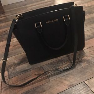 Black Michael Kors purse, wallet and coin purse